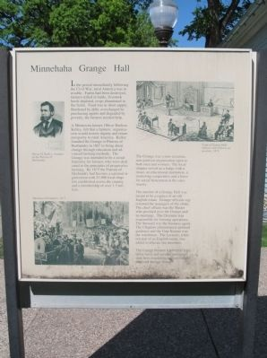 Minnehaha Grange Hall Marker image. Click for full size.