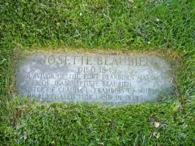Burial Site of Josette Beaubien image. Click for full size.