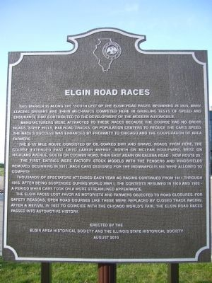 Elgin Road Races Marker image. Click for full size.