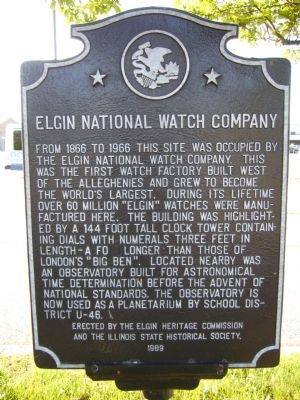 Elgin National Watch Company Marker image. Click for full size.