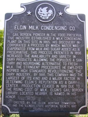 Elgin Milk Condensing Company Marker image. Click for full size.