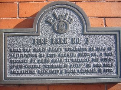 Fire Barn No. 3 Marker image. Click for full size.
