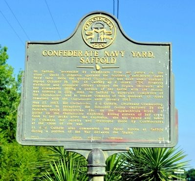 Confederate Navy Yard, Saffold Marker image. Click for full size.