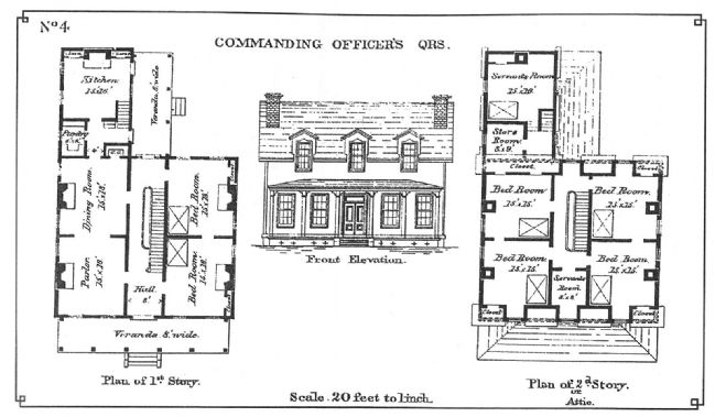 Commanding Officer's Quarters Plan image. Click for full size.