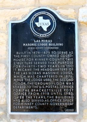 Las Moras Masonic Lodge Building Marker image. Click for full size.