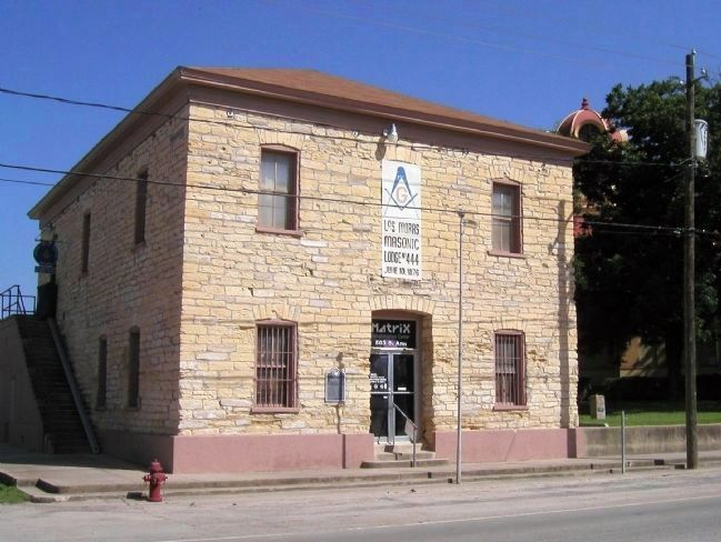 Brackettville's Las Moras Masonic Lodge Building image. Click for full size.