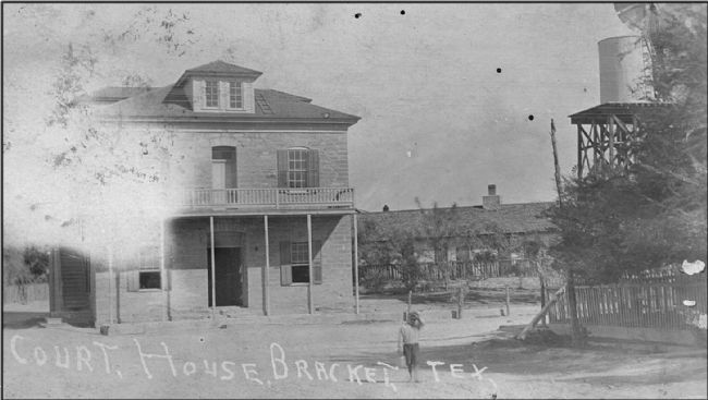 Historic view of Kinney County's first courthouse image. Click for full size.