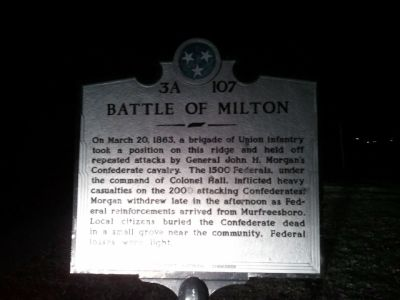 Battle of Milton Marker image. Click for full size.