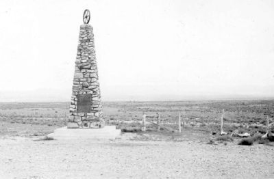 A 1941 View of the Mormon Battalion Monument image. Click for full size.