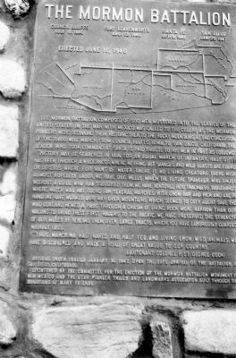A 1941 View of the Mormon Battalion Marker image. Click for full size.
