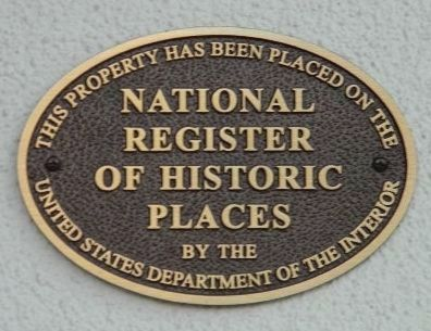 The second of at least two Registered Historic Places markers on the Watergate premises image. Click for full size.