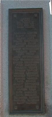 Veterans Memorial - Plaque 4 image. Click for full size.