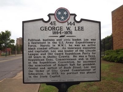 George W. Lee Marker image. Click for full size.