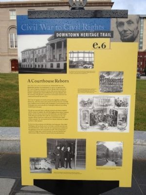 A Courthouse Reborn Marker image. Click for full size.
