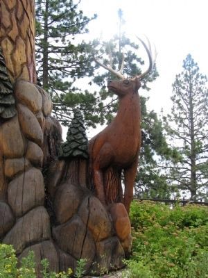 "Tahoe City's ""Big Tree"" Sculpture image. Click for full size."
