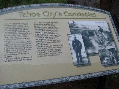 Tahoe City's Constables Marker image. Click for full size.
