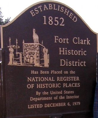 Fort Clark Historic District Marker image. Click for full size.