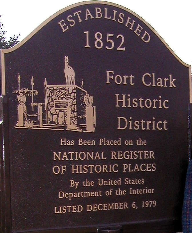 Fort Clark Historic District Marker