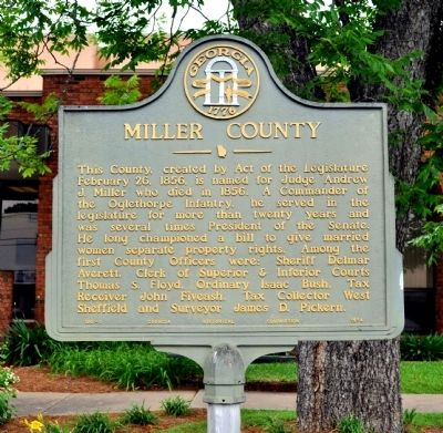 Miller County Marker image. Click for full size.