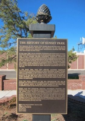 The History of Sunset Park Marker image. Click for full size.