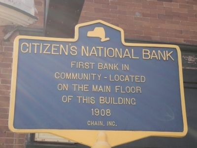 Citizen's National Bank Marker image. Click for full size.
