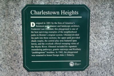Charlestown Heights Marker image. Click for full size.