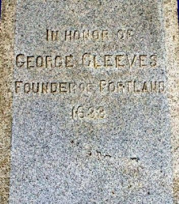 George Cleeves Monument image. Click for full size.
