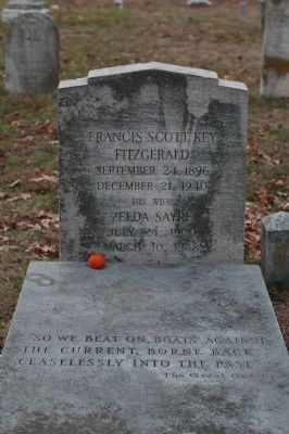 F. Scott Fitzgerald's and His Wife Zelda's Gravestones, St. Mary's Church, Rockville. Md. image. Click for full size.