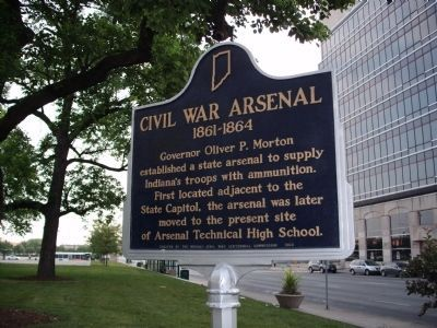 Civil War Arsenal 1861 - 1864 Marker image. Click for full size.