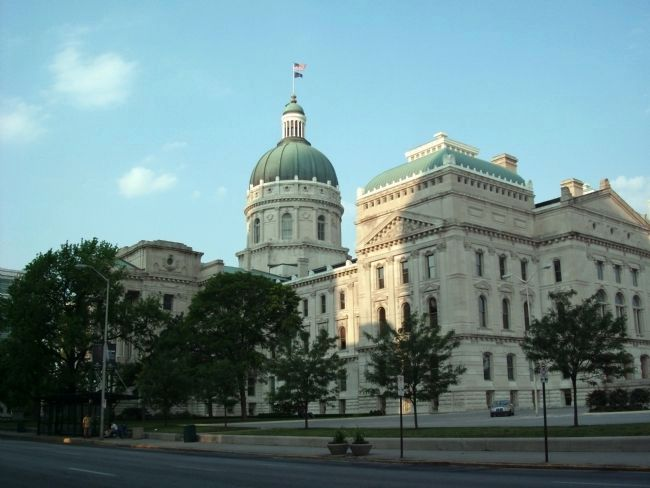 North/East corner - - Indiana State House - - Indianapolis, Indiana image. Click for full size.