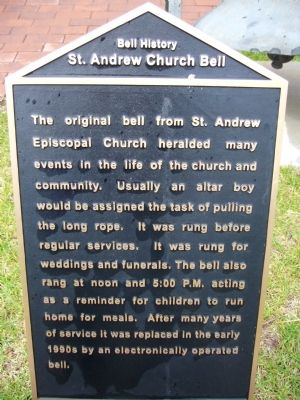 St. Andrew Church Bell Marker image. Click for full size.