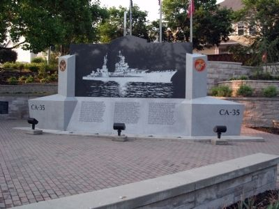 Full View - - USS Indianapolis CA-35 Marker image. Click for full size.