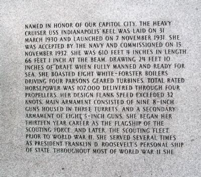 Panel One - - USS Indianapolis CA-35 Marker image. Click for full size.