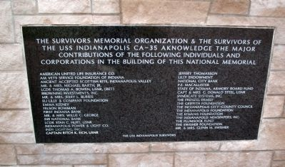 Contributors Plaque image. Click for full size.