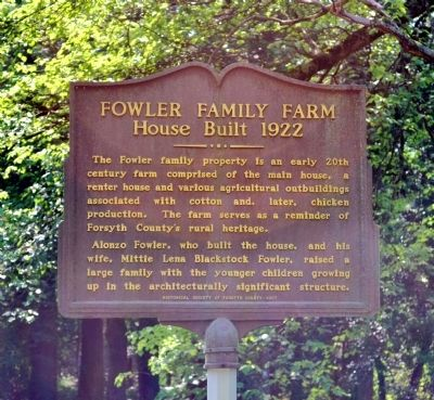 Fowler Family Farm Marker image. Click for full size.