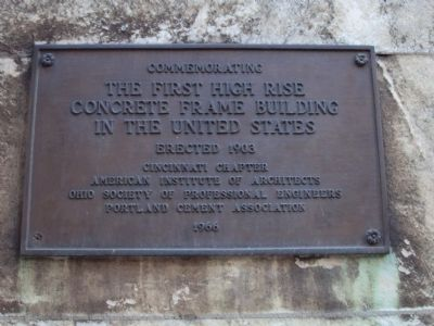 The First High Rise Concrete Frame Building in the United States Marker image. Click for full size.