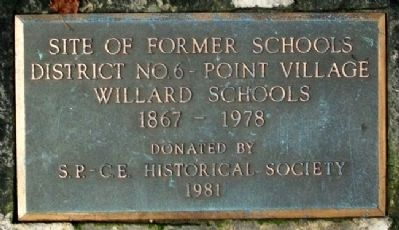Site of Former Schools Marker image. Click for full size.