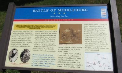 Battle of Middleburg Marker image. Click for full size.