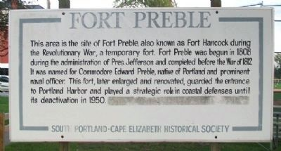 Fort Preble Marker image. Click for full size.
