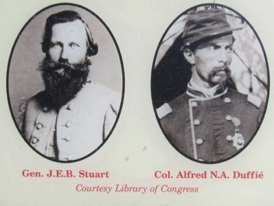 Portraits of Gen. Stuart and Col. Duffié image. Click for full size.