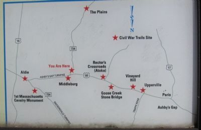 Civil War Trails sites in Loudoun Valley image. Click for full size.