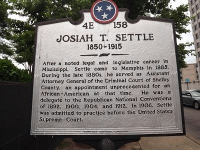 Josiah T. Settle Marker image. Click for full size.