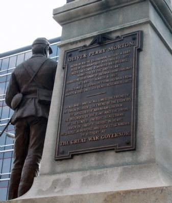 Plaque One - - Oliver Perry Morton Marker image. Click for full size.
