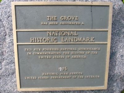 The Grove Marker image. Click for full size.
