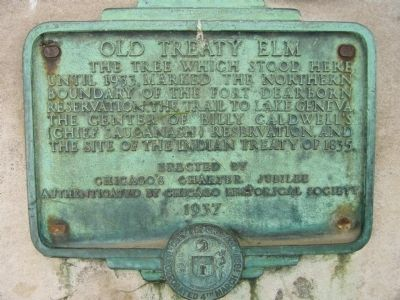 Old Treaty Elm Marker image. Click for full size.
