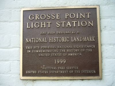 Grosse Point Light Station Marker image. Click for full size.