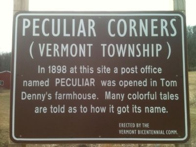 Peculiar Corners Marker image. Click for full size.