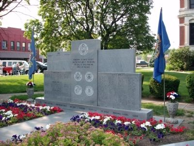 Full View - - Johnson County War Memorial Honor Rolls Marker image. Click for full size.