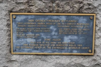 Sion Church-Herrolds Settlement Marker image. Click for full size.