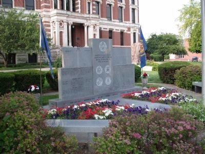 Looking South/West - - Johnson County War Memorial Honor Rolls Marker image. Click for full size.